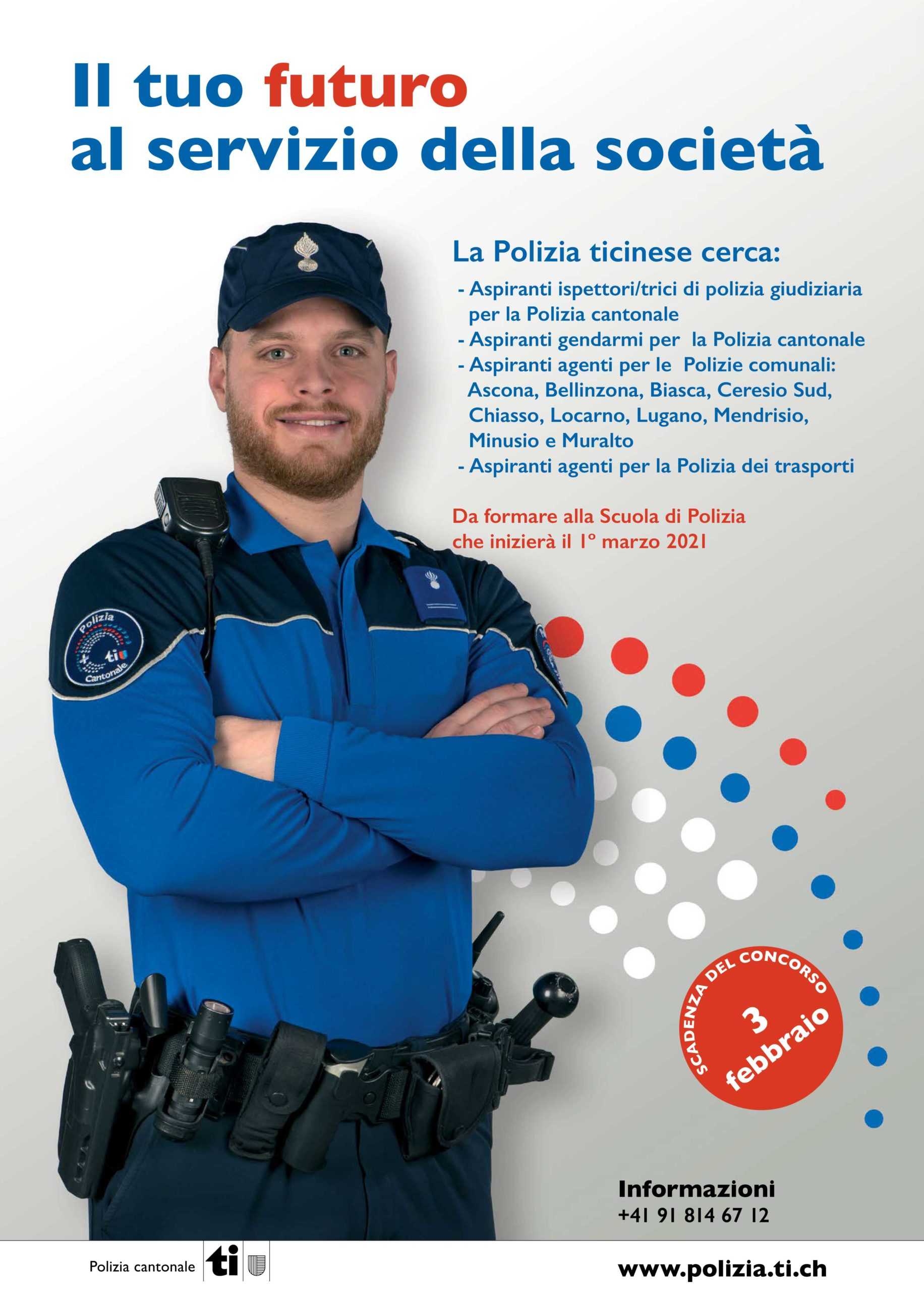 scuola di polizia in Ticino - Svizzera