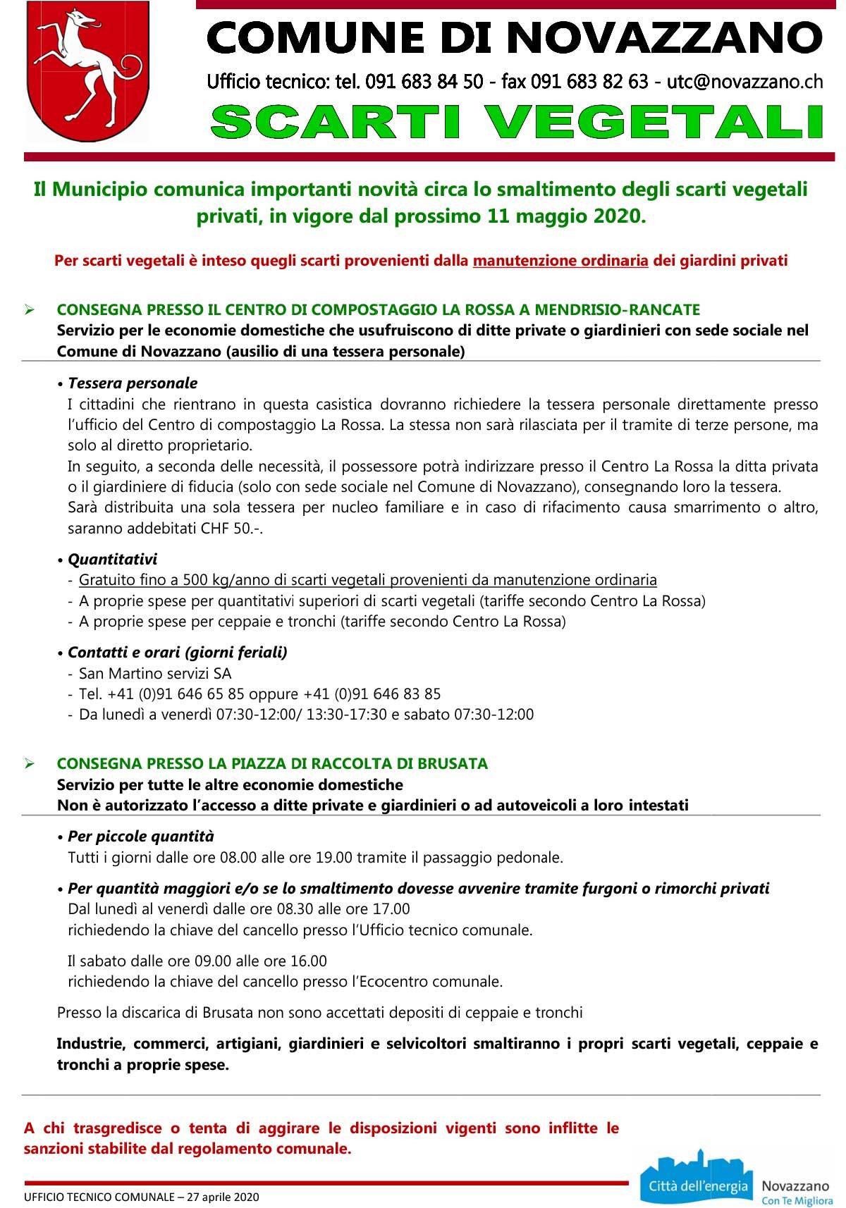 Scarti Vegetali Novazzano